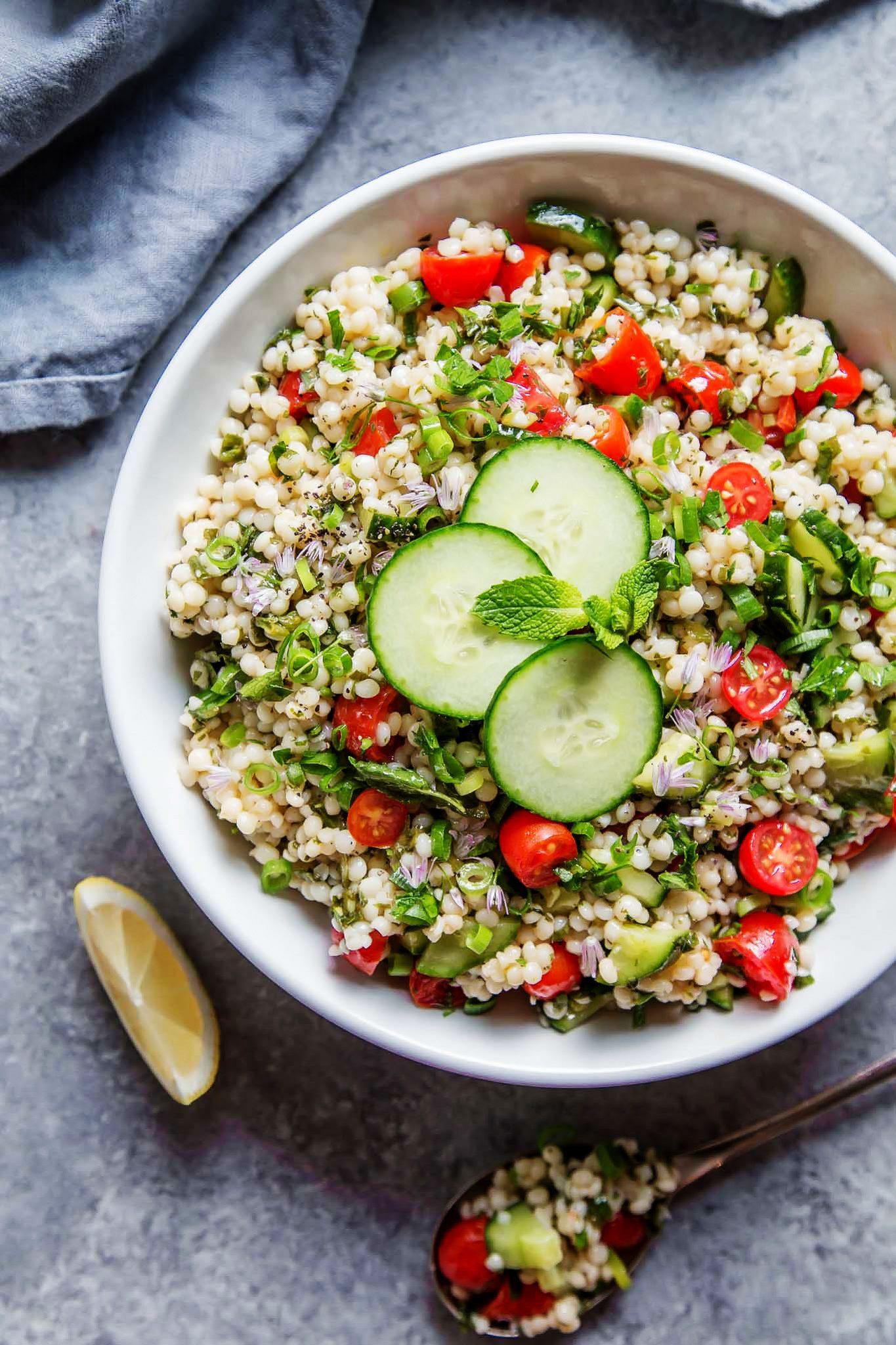 Israeli Couscous Tabbouleh Salad Platings Pairings