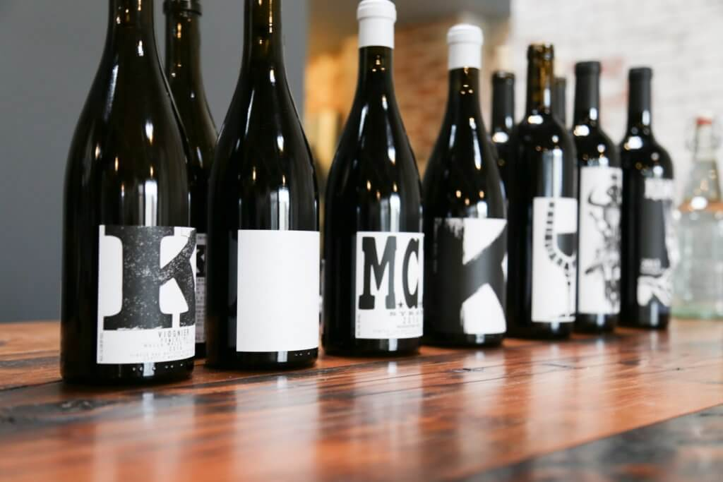 Charles Smith Wine Lineup at their Tasting Room