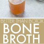 "This Slow Cooker ""Better Than Botox"" Bone Broth is full of natural collagen! Make chicken, pork or beef stock using kitchen scraps and this simple crockpot method."