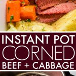 This Instant Pot Corned Beef & Cabbage is made with the help of your electric pressure cooker and finished off under the broiler with a honey-dijon glaze, giving it a perfectly crispy exterior.