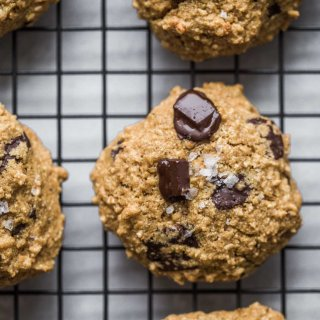 Close up of Quinoa Breakfast Cookies with Dark Chocolate chunks