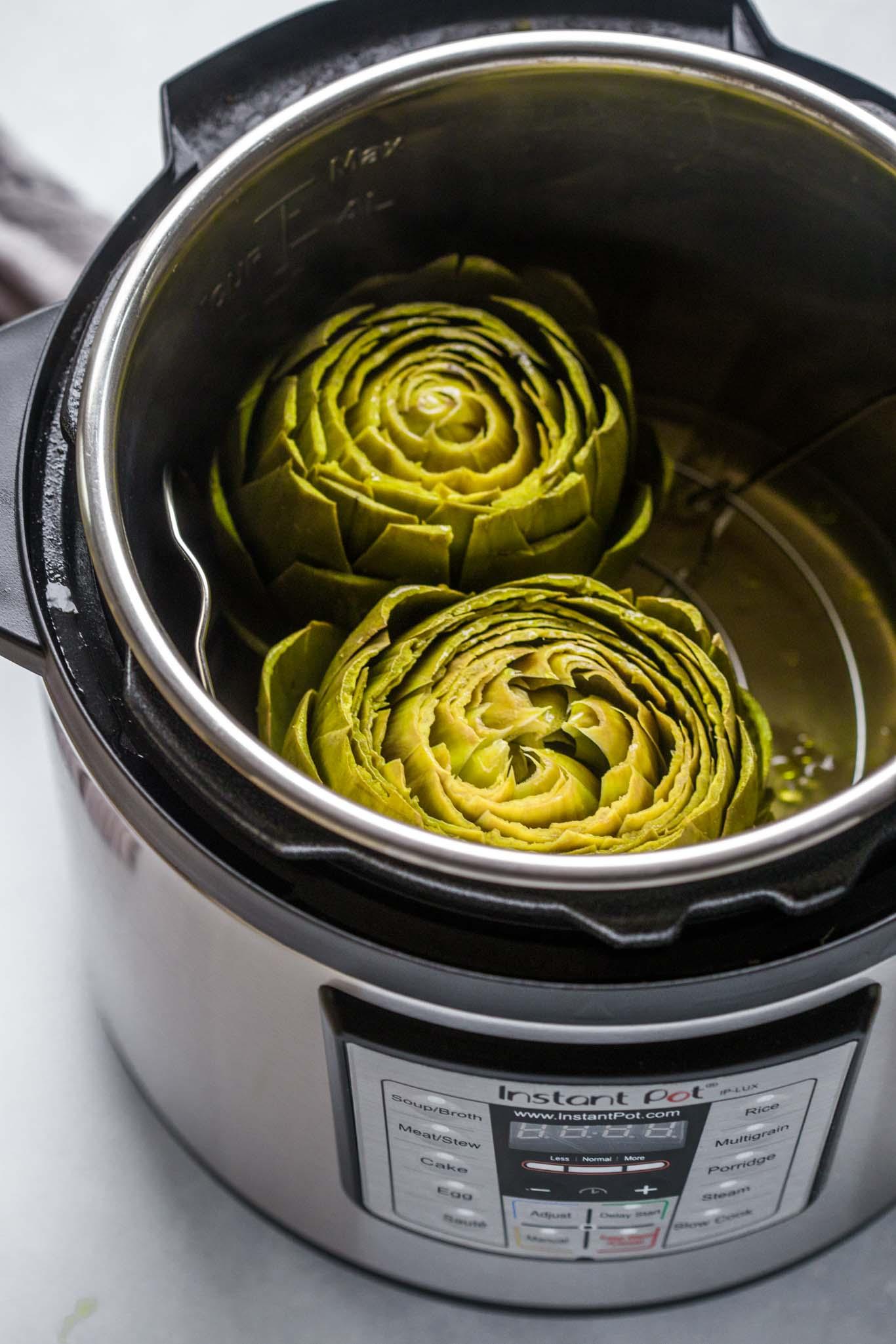 Instant Pot Steamed Artichokes