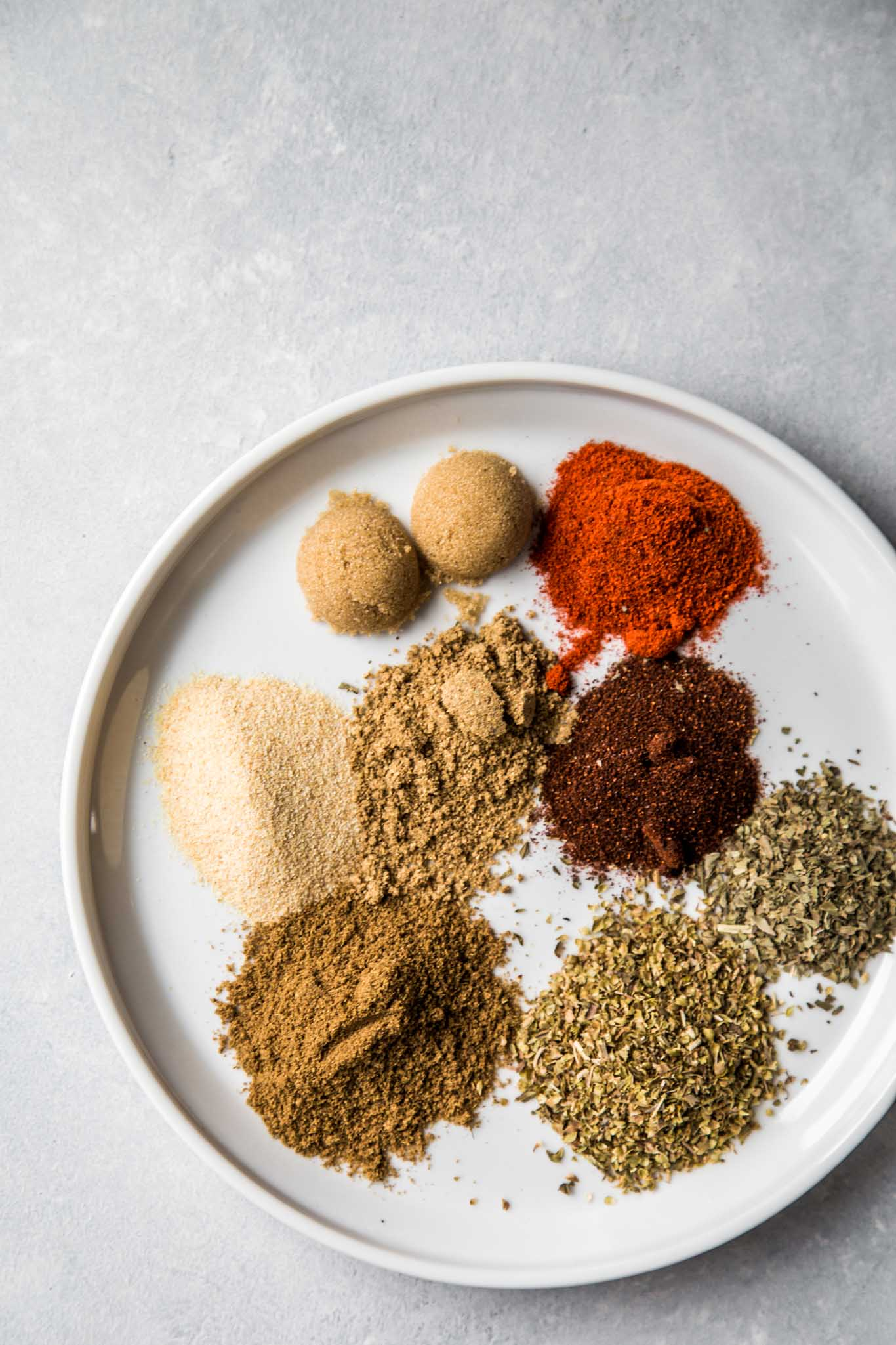 Spices for carnitas tacos