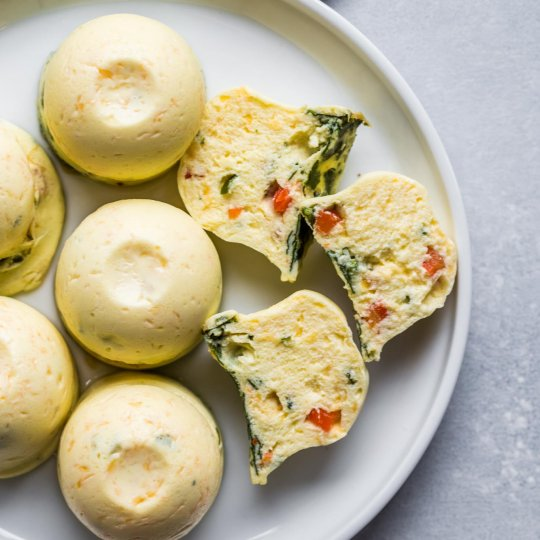Instant Pot Sous Vide Egg Bites on plate
