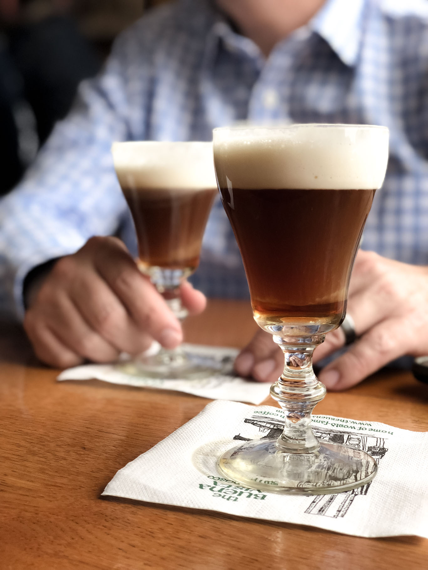 Irish Coffees at The Buena Vista