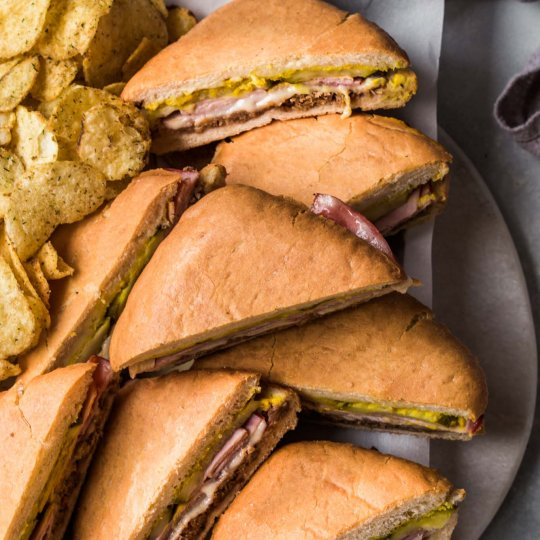 Platter of Cubano Sandwiches