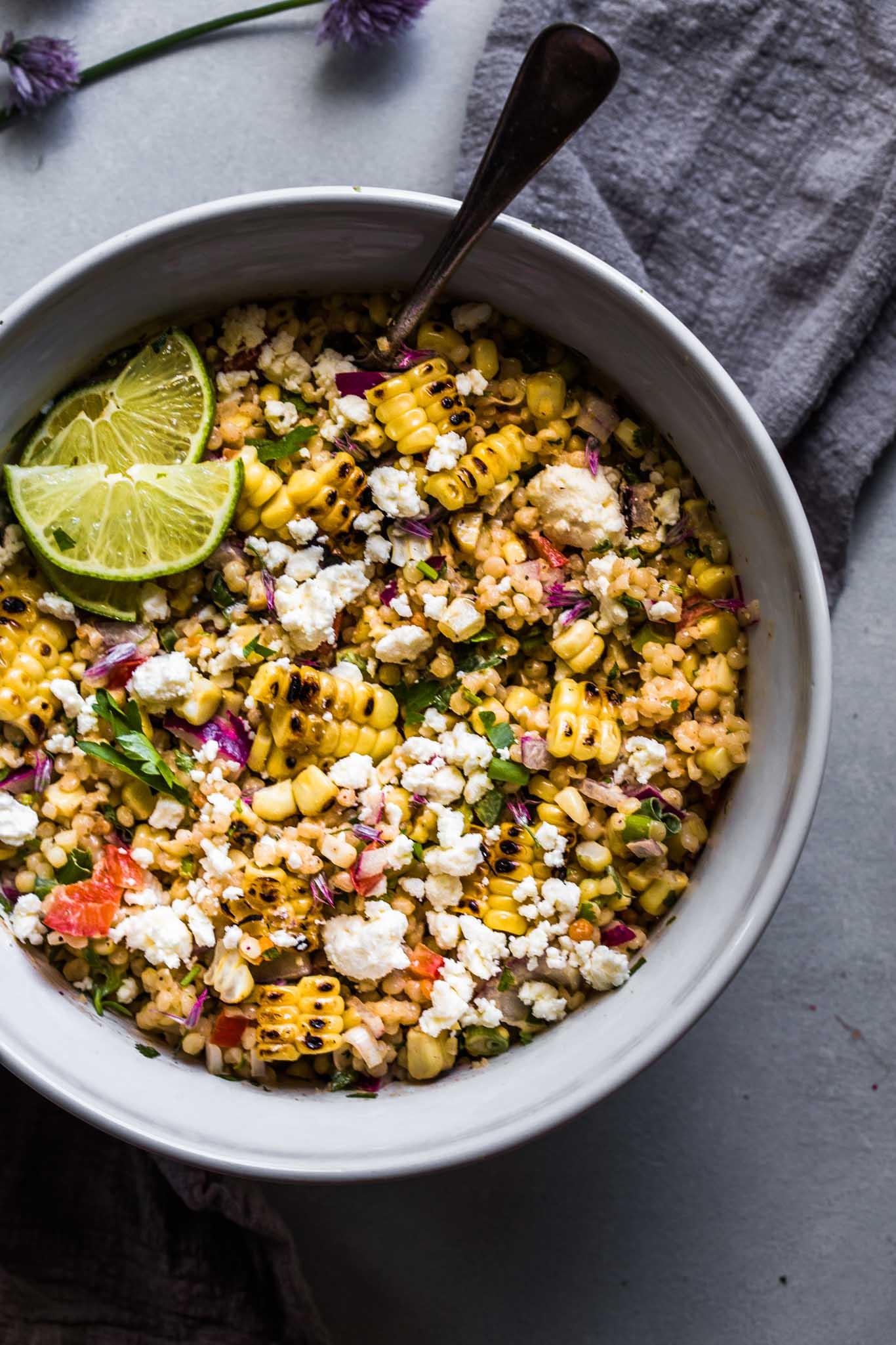 Overhead shot of Mexican Street Corn Salad
