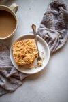 Overhead shot of chai spiced crumb cake