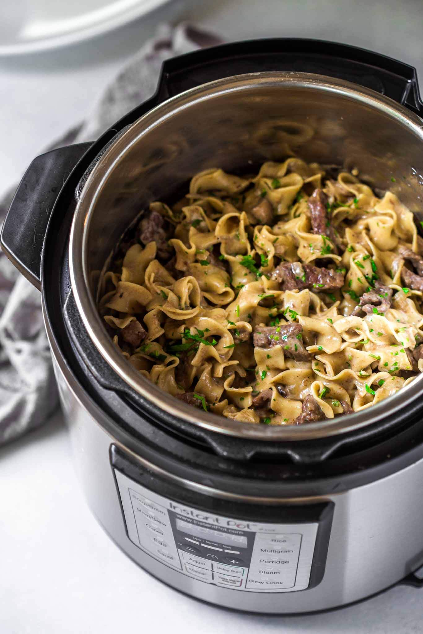 Stroganoff in the instant pot.