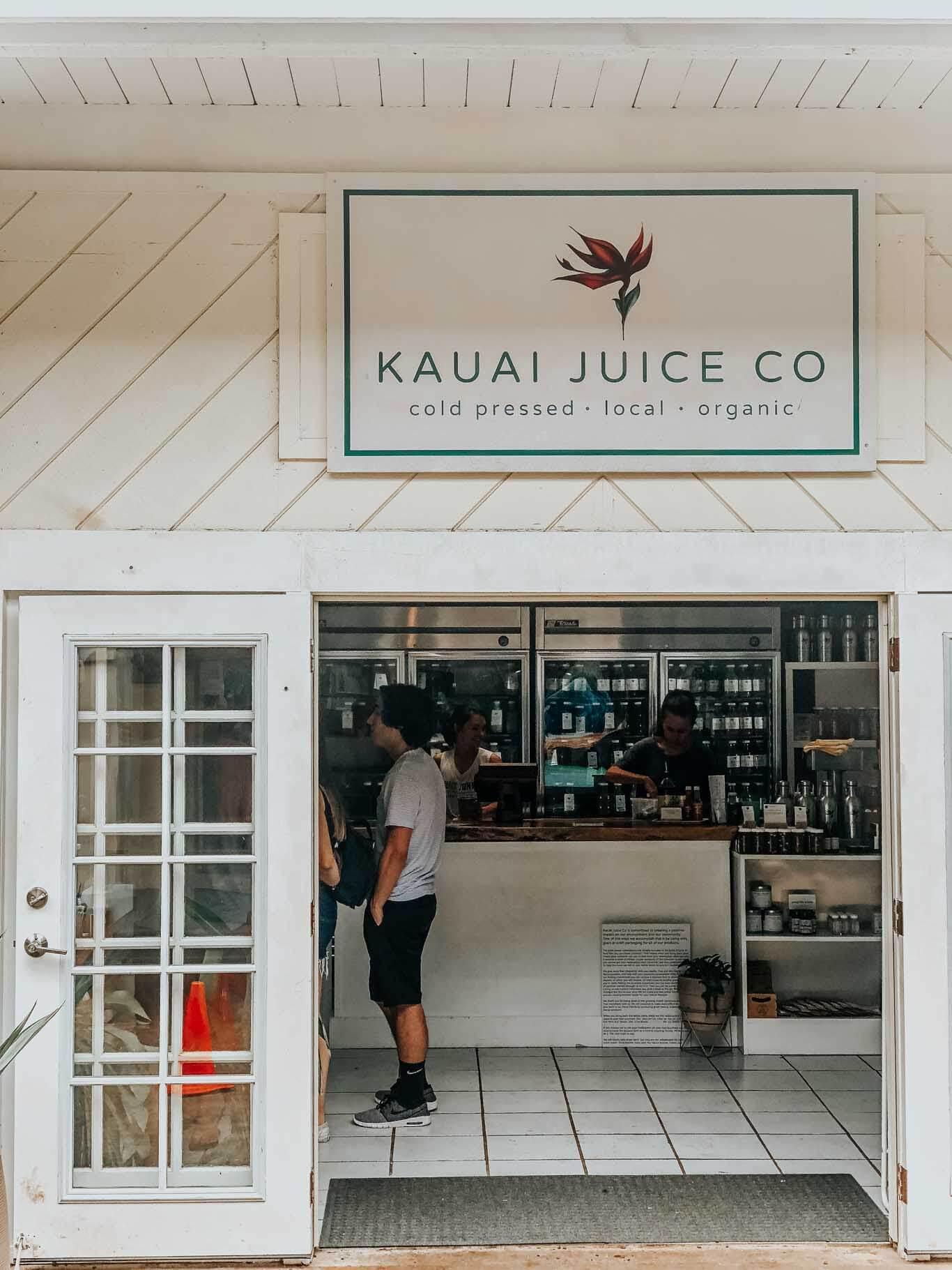 Kauai Juice Co in Poipou.