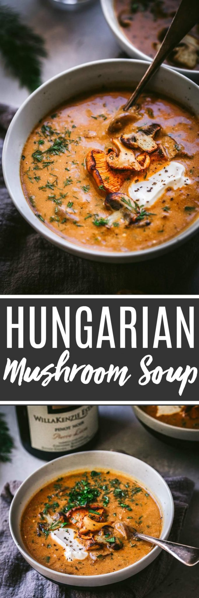 This Hungarian Mushroom Soup with Fresh Dill is rich, with hints of smokiness and a great umami flavor. It's the perfect bowl of soup to warm up with this season!