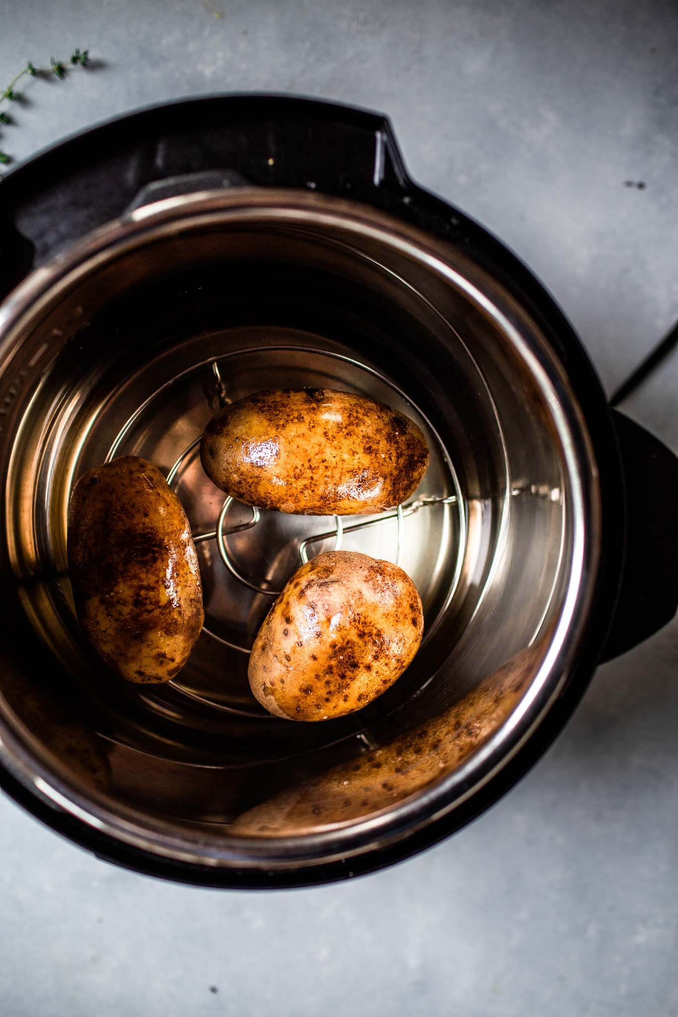 Potatoes in instant pot.