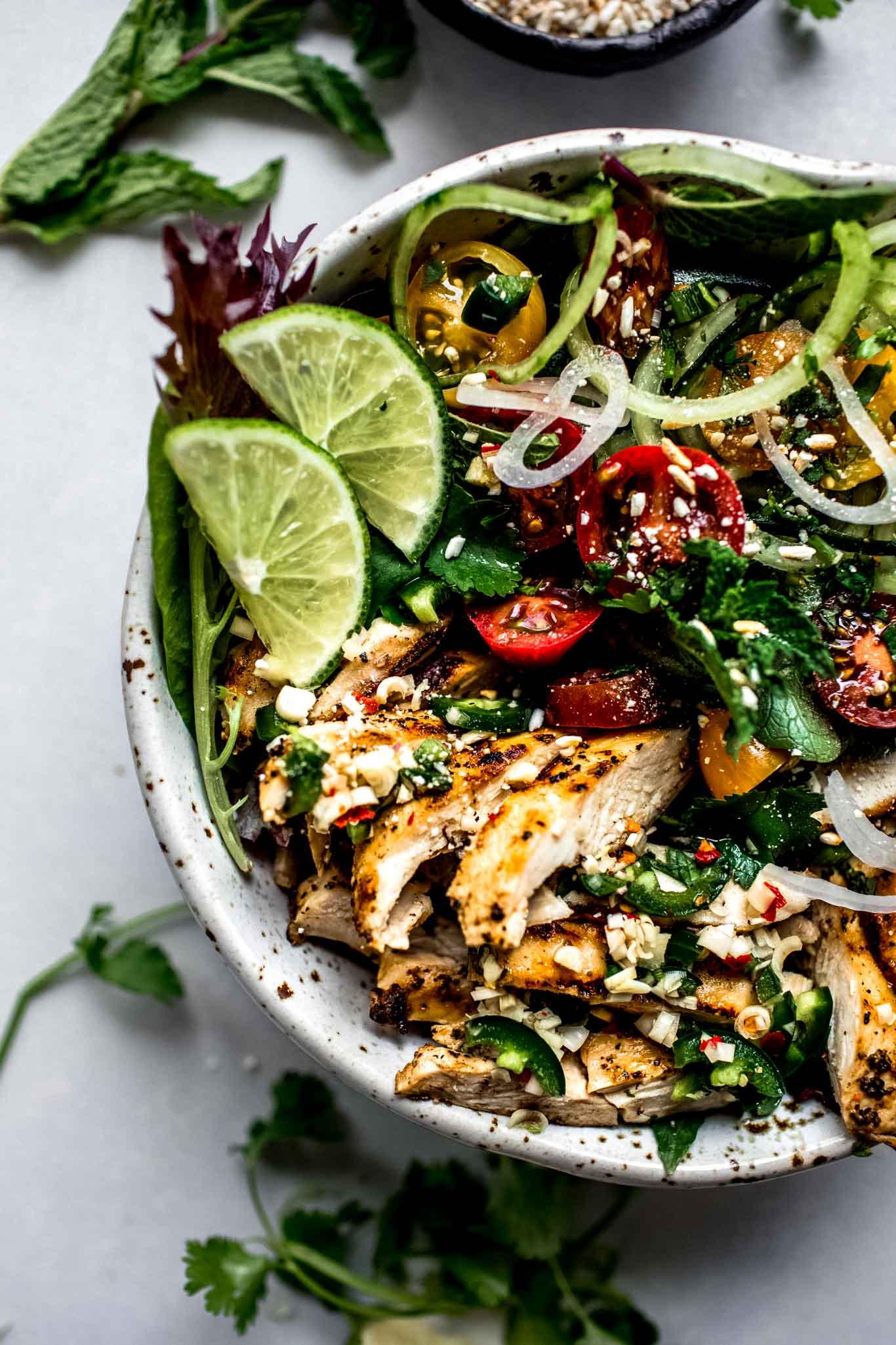 20 Minute Thai Chicken Salad Platings Pairings