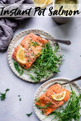 Pressure Cooker Salmon served with a delicious lemon-dill sauce will be on your dinner table in less than 15 minutes. Plus, you can cook your salmon in the pressure cooker from fresh or frozen - perfect for last minute dinner planning!