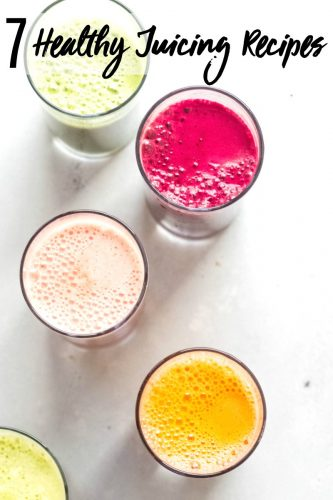 These 7 Healthy Juicing Recipes will help boost your energy, detox your body and aid with weight loss. #juicefast #juicingrecipes #juicing #juicerecipes #diyjuicecleanse #juicecleanse
