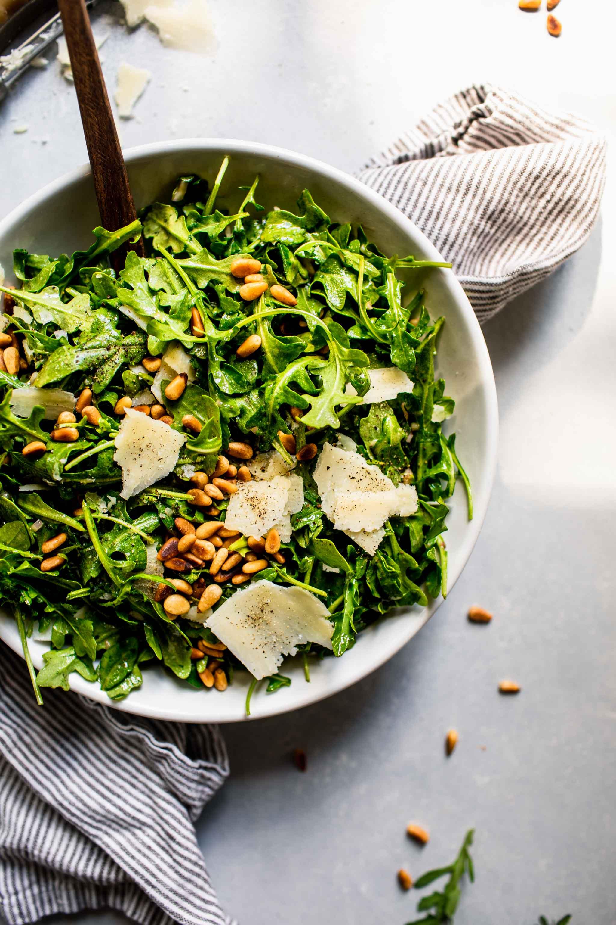 Arugula Salad Recipe With Red Wine Vinaigrette Easy Delicious