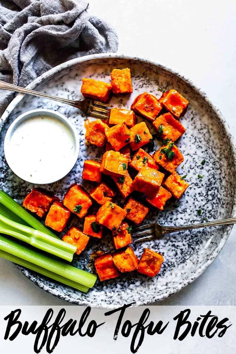 Crispy Baked Buffalo Tofu Bites Platings Pairings