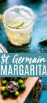 This St. Germain Margarita can be made with just three ingredients - tequila, elderflower liqueur and lime juice. You'll love having this Elderflower Margarita recipe in your arsenal. // margarita recipe // st. germain cocktail // cocktail // cocktail recipe // tequila