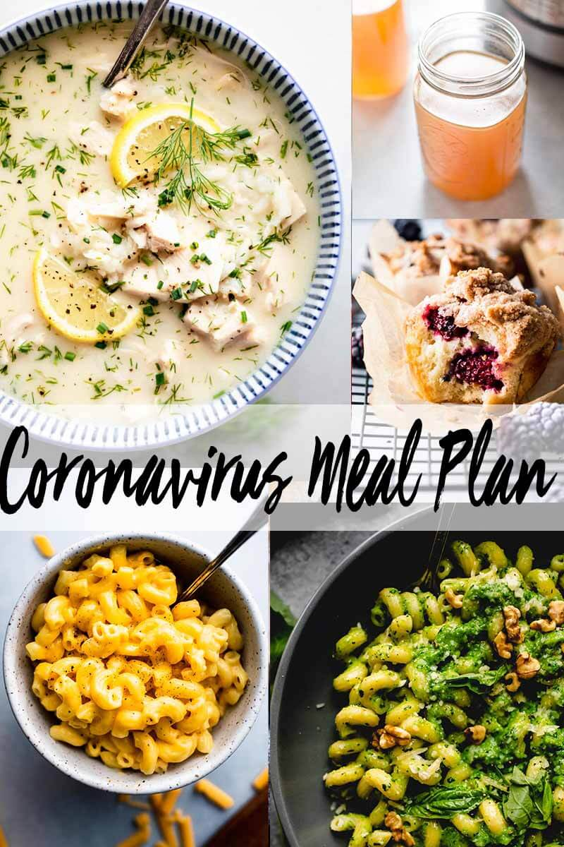 What I'm cooking and how I'm meal planning for self quarantine and the coronavirus. Here's what my week one looks like, complete with a full shopping list.