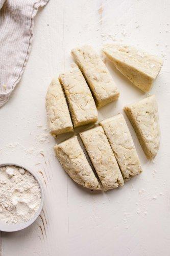 Gnocchi dough cut into 8 sections.