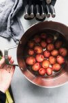 Potatoes in pot ready to boil