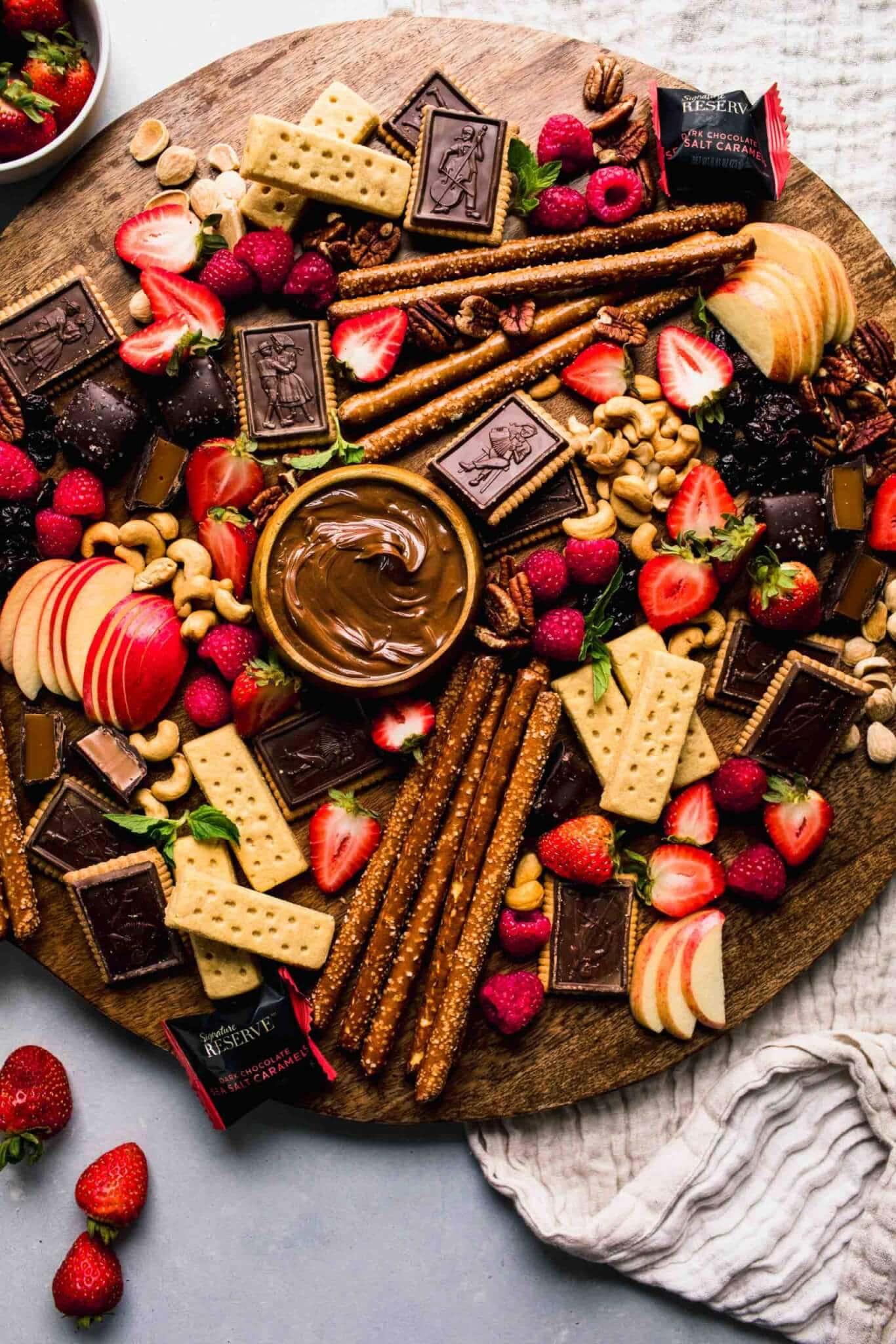 Arranged Dessert Chocolate Board.