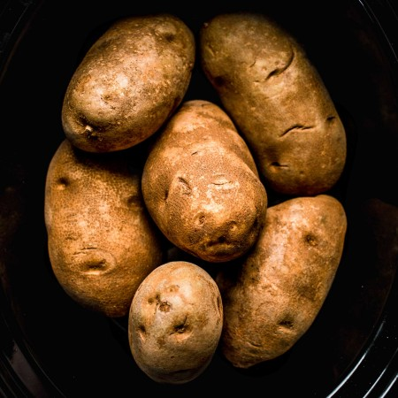 Potatoes in crockpot without foil.
