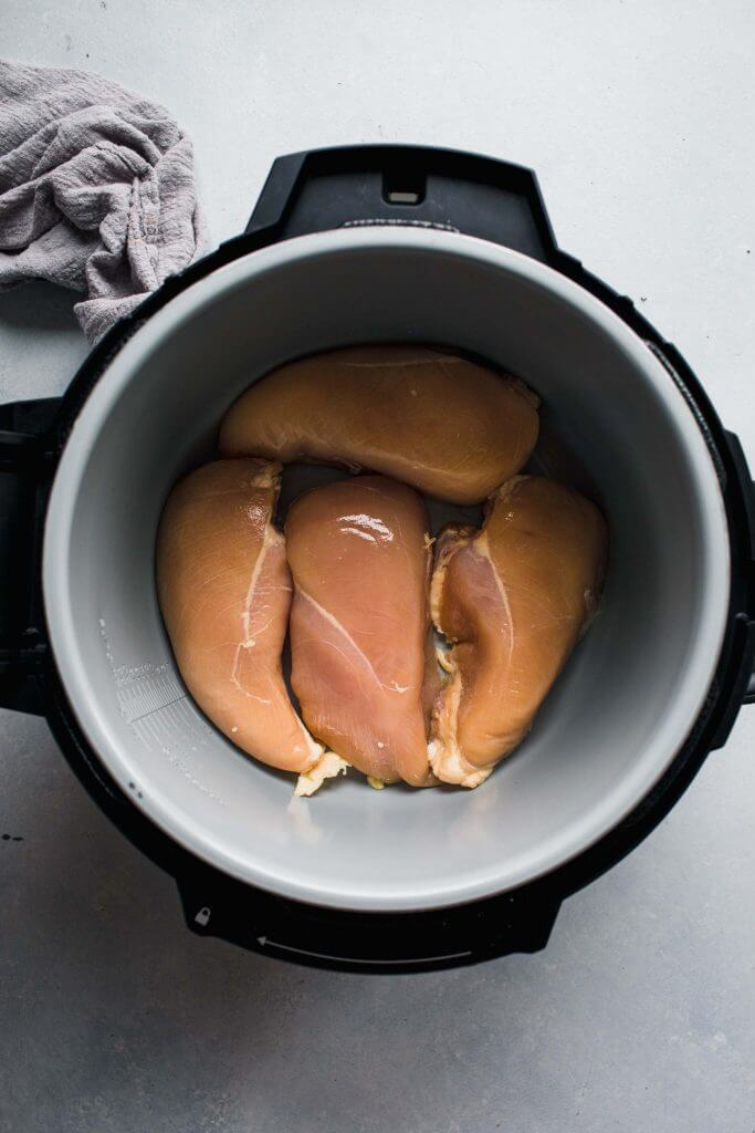 Raw chicken in instant pot