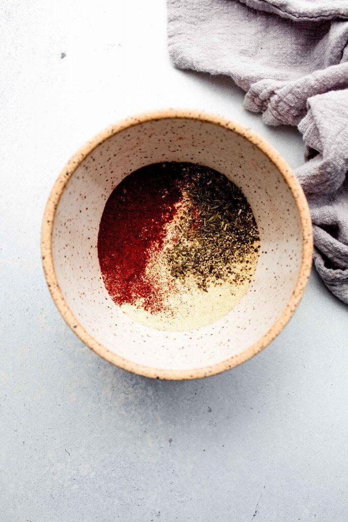 Ingredients in bowl.
